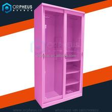 Fanshion design follwing the marketing doubel door bedroom wardrobe sliding door design with safe lock