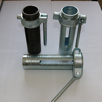 prop sleeve with nut / post shore nut with handle for construction