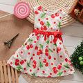 2014 venta caliente punto rojo de algodón niñas vestido casual jk-032002-1
