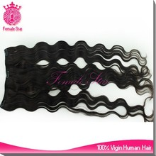 100% natural indian remy human hair clip in hair extensions for black women price list