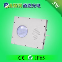 5W Sunpower high quality all in one integrated solar led garden light twilight low voltage lights