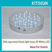 Wedding Centerpiece Sharp Bright White LED Vase Light Base For Uplighting