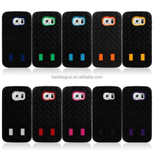 2015 New arrival Robot style tire grain Hybrid shock proof case for samsung galaxy S6