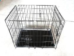 Folding light galvanized iron dog cage