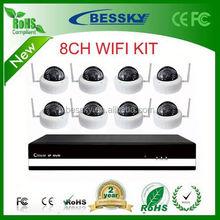 Bessky Dome 720p/960p/1080p P2P WIFI IP Camera NVR Kits,office kit set