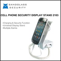 Best quality factory price cheap cell phone security holder, alarm display holder