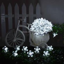 Solar Fairy String Lights 21ft 50 LED White Blossom Decorative Gardens, Lawn, Patio, Christmas Trees, Weddings, Parties HNL001