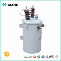 Single phase 11KV 220V 10KVA weather proof oil type power supply transformer