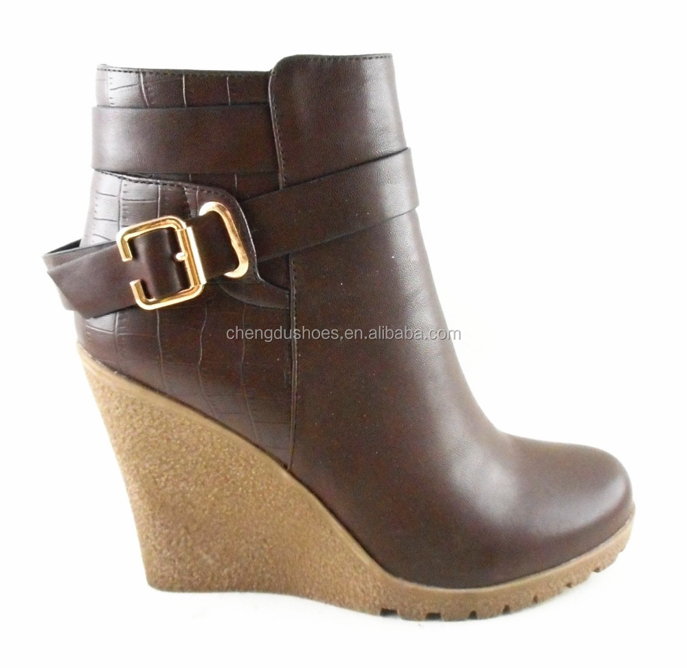 2015 new shoes fashion wedges boots ankle bootie