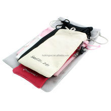 promotional logo printable microfibre pouch accessories for mobil
