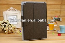 Coffee magnetic flap stand leather cover for ipad air smart cover