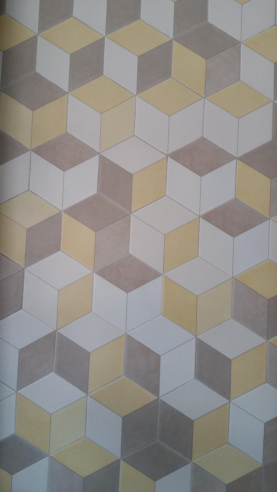 Hexagon tile floor