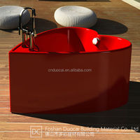 Chinese Supplier Freestanding Red Heart Shaped Bathtub (CM-G855)