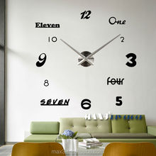 MAX3 Wall Clock 3D DIY Wall Clock Luxury For Home Decoration to Supply In China