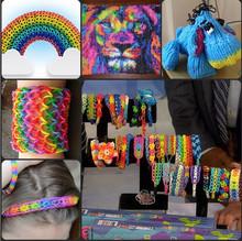 Glow In Dark Rubber Band Loom Bands Girls DIY Bracelet Opp Bag Package 300pcs set