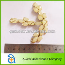 T shape crystal embellishments for shoes