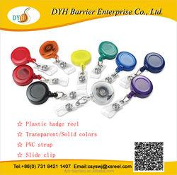 Plastic color retractable plastic reel id badge holder