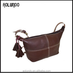 New simple vintage style personal lady leather bag