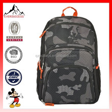 High Quality school backpack 18 inch Outdoor Hiking Backpack Camouflage Orange backpack school bag(ES-H154)