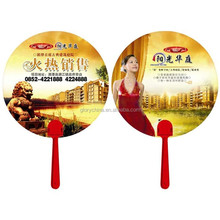 plastic fan with short handle, OEM design, Cheap price, hot promotion gifts
