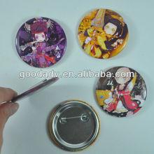 OEM factory 2012 hot sale tinplate badge set Customised tinplate badge