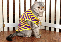 Fashion cat clothes hello kitty stripe printed design pet t-shirt cat clothes and t-shirt