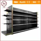Soco painel metálico preto display stand equipamentos de supermercado