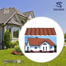 New building material double roman tiles type roof tile /stone coated steel corrugated roof tile/solar roofing shingle
