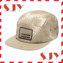 Design your own wholesale custom 5 panel cap