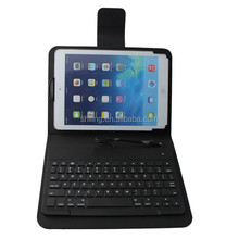 White ABS keys Wired Keyboard Leather Case For Apple ipad Air , Black
