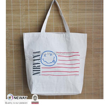 2015 Low Price High Quality Green Cotton Canvas Tote Bag/Cotton Shop Bag Long Handle/Calico Fabric Bag
