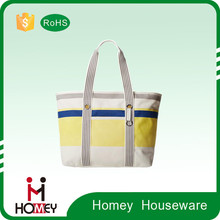 2015 Hot Selling Latest Cotton Polyester fabric handbag office lady hand bag shoulder bag