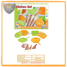 Import from china toys for kids safety kitchen set toy with fruit