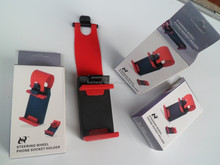 Top quality mobile phone holder car steering wheel