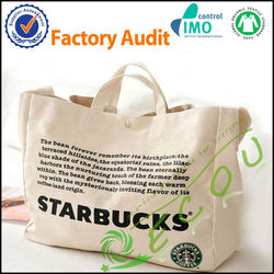 Customized Plain White Cotton Canvas Tote Bag