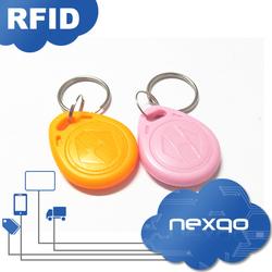 Top level unique lf 125khz rfid key tag/ key fob/key rings