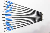 """hot sale carbon Arrow 20"""" for crossbow Hunting Archery blue and white"""