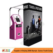 cabina de fotos portátil para máquinas expendedoras