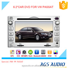 6.2 inch car dvd gps navigation for Volkswagen PASSAT system with TV/Bluetooth/iPod/RDS/mp3/radio
