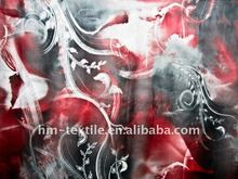 2012 design printed floral chiffon fabric for dress