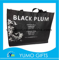 promotional black recycling retail packaging non woven bags