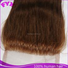 Brazilian human hair 3.5*4 blone colour cheap lace closure for woman
