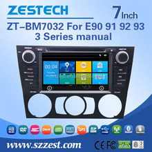 New arrival 7 inch car dvd car radio support BT am/fm Car DVD Player for BMW E90 91 92 93 manual condition zt-bm7032