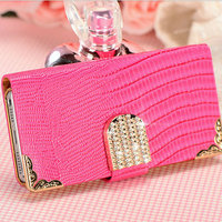 Factory Price Rhinestone Cell Phone Cases Supplier for Iphone 5/5S