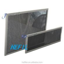 Aluminum frame nylon media washable air filter