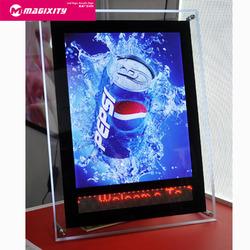 Hot sale newest design led crystal light box frame indoor