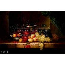 Handmade Impressionist famous Still Life Fruit Oil Painting on canvas, Still Life with Fruit on a Marble Ledge2
