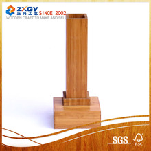 High quality square wood base;bamboo base