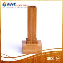 High quality square wood base;bamboo base