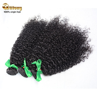 Aliluxy grade 7a 100% human virgin curly unprocessed brazilian tight curly hair